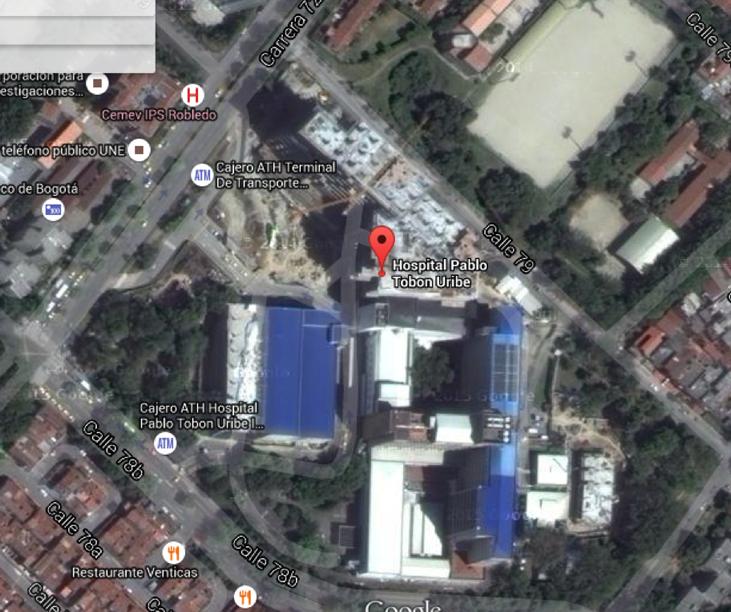Mapa del vista satelital